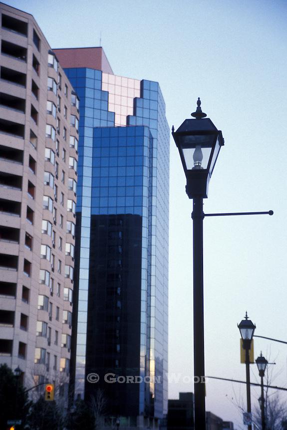 London, Ontario Skyline & Street Lamps