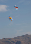 A Biplane heat race during the National Championship Air Races in Reno, Nevada on Thursday, September 14, 2017.