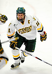 29 January 2010: University of Vermont Catamount forward Brian Roloff, a Senior from West Seneca, NY, celebrates a third period goal against the University of Maine Black Bears at Gutterson Fieldhouse in Burlington, Vermont. The Black Bears defeated the Catamounts 6-3 in the first game of their America East weekend series. Mandatory Credit: Ed Wolfstein Photo