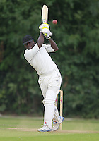Leroy Shepherd hits out for South Hampstead during the Middlesex County Cricket League Division Three game between Highgate and South Hampstead at Park Road, Crouch End on Sat Aug 2, 2014