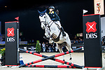 Natasha Lee of Hong Kong riding Einstein Chavannais competes in the JETS Challenge during the Longines Masters of Hong Kong at AsiaWorld-Expo on 10 February 2018, in Hong Kong, Hong Kong. Photo by Diego Gonzalez / Power Sport Images