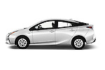Car Driver side profile view of a 2016 Toyota Prius Comfort 5 Door Hatchback Side View