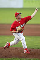 Batavia Muckdogs pitcher Jonathan Cornelius #26 during a game against the Jamestown Jammers at Dwyer Stadium on June 27, 2011 in Batavia, New York.  Batavia defeated Jamestown 4-3.  (Mike Janes/Four Seam Images)