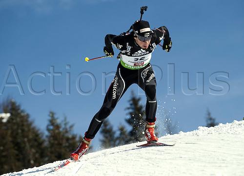 09.12.2011, Hochfilzen, Austria. The IBU Biathlon men's 10km Sprint Weger Benjamin SUI Biathlon World Cup