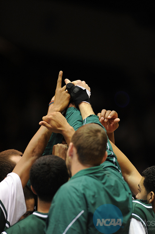 28 MAR 2009: Findlay takes on Cal Poly Pomona during the Division II Men's Basketball Championship held at the MassMutual Center in Springfield, MA. The University of Findlay defeated Cal Poly Pomona 56-53 in overtime for the national title. Jim Mahoney/NCAA Photos