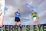 Kerry captain Colm Cooper looks on as referee Rory Hickey does the toss before play begins last Saturday evening against limerick in The Gaelic Grounds.