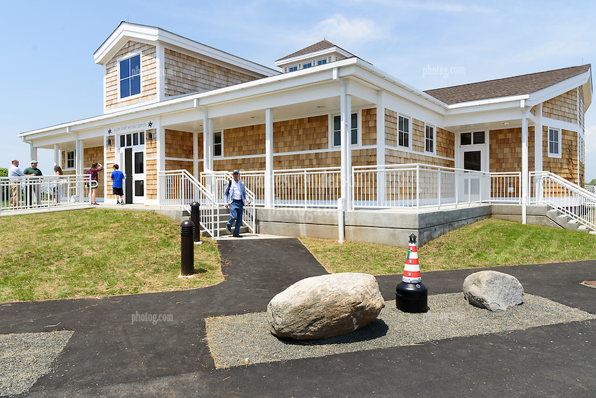 Ribbon Cutting Ceremony for the New Meigs Point Nature Center at Hammonasset Beach State Park. A Connecticut State Project No: BI-T-601 | Northeast Collaborative Architects  Contractor: Secondino & Son
