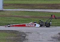 May 19, 2014; Commerce, GA, USA; NHRA top fuel driver Steve Torrence during the Southern Nationals at Atlanta Dragway. Mandatory Credit: Mark J. Rebilas-USA TODAY Sports