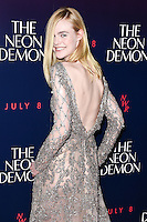 "Elle Fanning<br /> arrives for the premiere of ""The Neon Demon"" at the Picturehouse Central, London.<br /> <br /> <br /> ©Ash Knotek  D3125  30/05/2016"