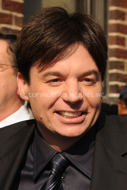 WWW.ACEPIXS.COM . . . . . ....June 16 2008, New York City....Actor Mike Myers made an appearance at the 'Late Show with David Letterman' at the Ed Sullivan Theatre, June 16 2008, New York City....Please byline: KRISTIN CALLAHAN - ACEPIXS.COM.. . . . . . ..Ace Pictures, Inc:  ..(646) 769 0430..e-mail: info@acepixs.com..web: http://www.acepixs.com