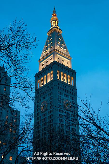 Metropolitan Life Insurance company campanile At Dusk