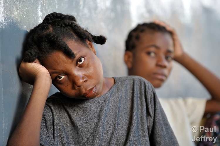 """Patients at the """"House for the Dying"""", a hospice for AIDS patients and other terminally ill patients run by the Sisters of Charity in Port au Prince, Haiti."""