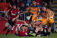 Action from the 2019 Super Rugby final between the Crusaders and Jaguares at Orangetheory Stadium in Christchurch, New Zealand on Saturday, 6 July 2019. Photo: Joe Johnson / lintottphoto.co.nz
