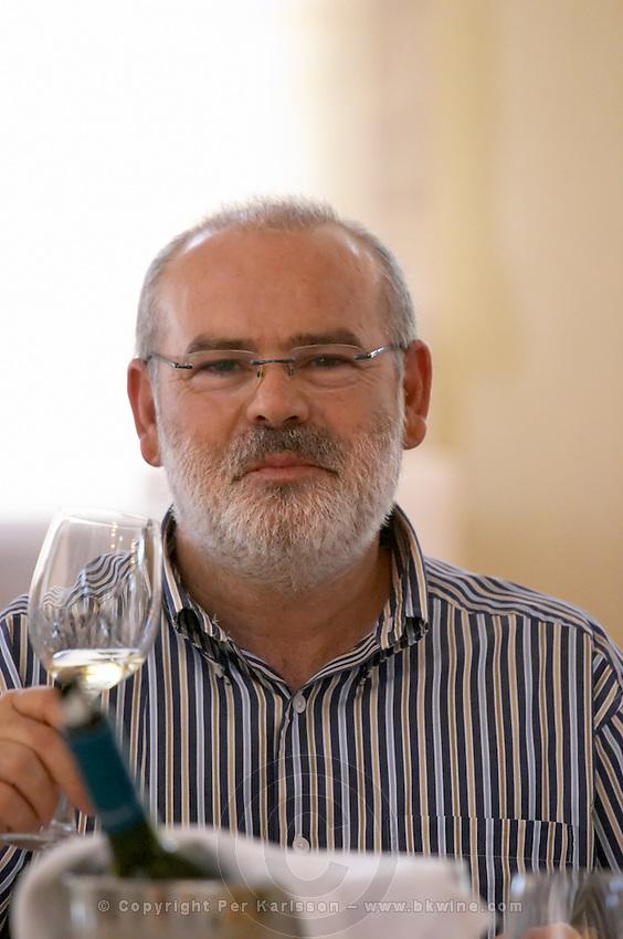 Yiannis Kalaitzidis, owner. Wine Art Estate Winery, Microchori, Drama, Macedonia, Greece