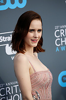 Rachel Brosnahan attends the 23rd Annual Critics' Choice Awards at Barker Hangar in Santa Monica, Los Angeles, USA, on 11 January 2018. Photo: Hubert Boesl - NO WIRE SERVICE - Photo: Hubert Boesl/dpa /MediaPunch ***FOR USA ONLY***