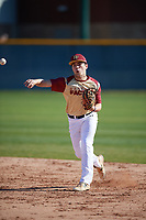 Tommy Biggs (4) of West Monroe High School in Columbia, Louisiana during the Baseball Factory All-America Pre-Season Tournament, powered by Under Armour, on January 13, 2018 at Sloan Park Complex in Mesa, Arizona.  (Mike Janes/Four Seam Images)
