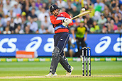 10th February 2018, Melbourne Cricket Ground, Melbourne, Australia; International Twenty20 Cricket, Australia versus England;  James Vince of England in batting action  down the leg side