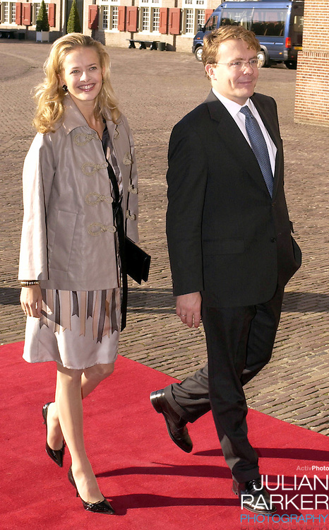 Prince Johan Friso & Princess Mabel attend the Christening of Prince Constantijn & Princess Laurentien of Holland's son Claus-Casimir, at the Palais Het Loo in Apeldoorn..