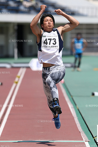 Gurimu Narita,<br /> MAY 1, 2016 - Athletics :<br /> Japan Para Athletics Championships<br /> Men's Long Jump T44 Final<br /> at Coca Cola West Sports Park, Tottori, Japan.<br /> (Photo by Shingo Ito/AFLO SPORT)