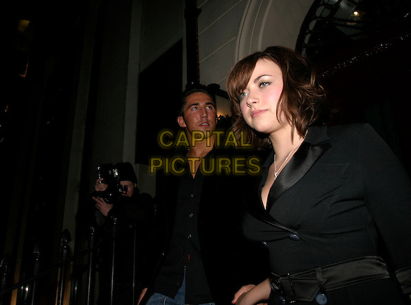 CHARLOTTE CHURCH & GAVIN HENSON.Afterparty of Gala Screening of George Michael: A Different Story at Morton's, Berkeley Square, London, UK..December 5th, 2005.Ref: AH.half length celebrity couple boyfriend girlfriend black .www.capitalpictures.com.sales@capitalpictures.com.© Capital Pictures.