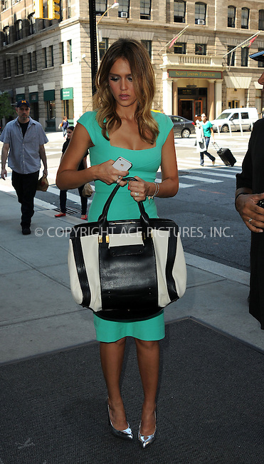 WWW.ACEPIXS.COM....September 12 2012, New York City....Actress Jessica Alba arriving at her Soho hotel on September 12 2012 in New York City....By Line: Curtis Means/ACE Pictures......ACE Pictures, Inc...tel: 646 769 0430..Email: info@acepixs.com..www.acepixs.com
