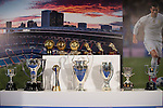 All titles won by Cristiano Ronaldo at Real Madrid CF during the tribute to Cristiano Ronaldo by Real Madrid CF on the occasion of his new record by being the top scorer in the club's history at Santiago Bernabeu Stadium in Madrid, October 02, 2015.<br /> (ALTERPHOTOS/BorjaB.Hojas)