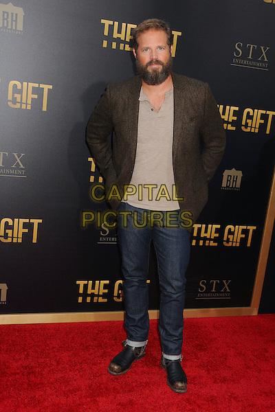 30 July 2015 - Los Angeles, California - David Denman. &quot;The Gift&quot; Los Angeles Premiere held at Regal Cinemas LA Live.  <br /> CAP/ADM/BP<br /> &copy;Byron Purvis/AdMedia/Capital Pictures