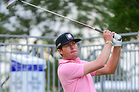 Kyle Reifers (USA) watches his tee shot on 17 during round 2 of the Valero Texas Open, AT&amp;T Oaks Course, TPC San Antonio, San Antonio, Texas, USA. 4/21/2017.<br /> Picture: Golffile | Ken Murray<br /> <br /> <br /> All photo usage must carry mandatory copyright credit (&copy; Golffile | Ken Murray)