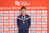 Picture by Allan McKenzie/SWpix.com - 17/12/2017 - Swimming - Swim England Nationals - Swim England National Championships - Ponds Forge International Sports Centre, Sheffield, England - Brodie Williams takes bronze in the mens 200m backstroke.
