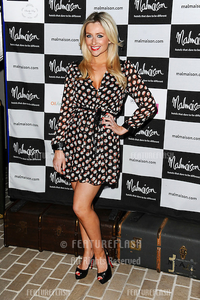Gemma Merna arrives for the Malmaison Hotel Liverpool re-opening party...23/09/2011  Picture by Steve Vas/Featureflash