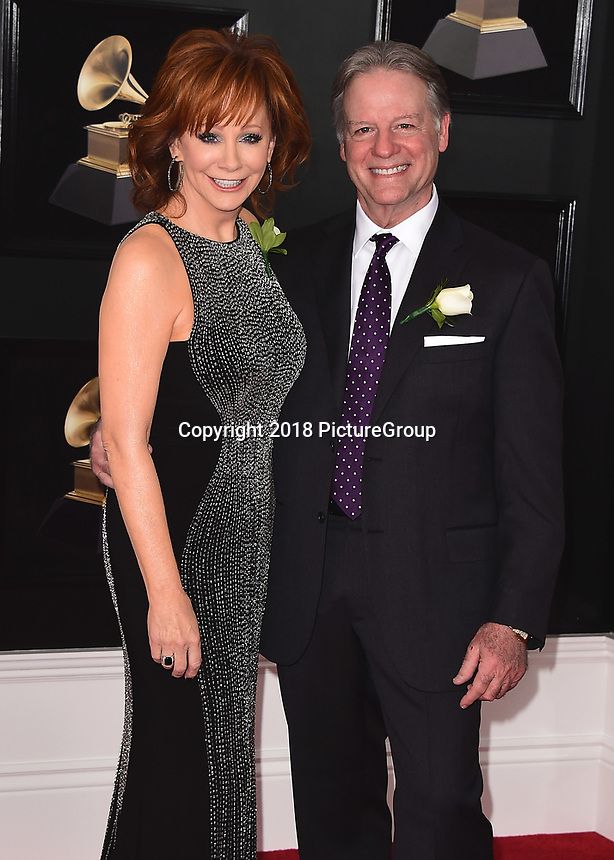 NEW YORK - JANUARY 28:  Reba McEntire at the 60th Annual Grammy Awards at Madison Square Garden on January 28, 2018 in New York City. (Photo by Scott Kirkland/PictureGroup)