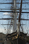 The Cutty Sark ship at Greenwich, London UK