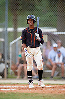 Nander De Sedas (31) while playing for FTB/SF Giants Scout Team based out of Kissimmee, Florida during the WWBA World Championship at the Roger Dean Complex on October 21, 2017 in Jupiter, Florida.  Nander De Sedas is a shortstop / second baseman from Montverde, Florida who attends Montverde Academy.  (Mike Janes/Four Seam Images)