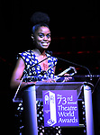 Denee Benton on stage at the 73rd Annual Theatre World Awards at The Imperial Theatre on June 5, 2017 in New York City.