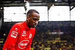 11.05.2019, Signal Iduna Park, Dortmund, GER, 1.FBL, Borussia Dortmund vs Fortuna Düsseldorf, DFL REGULATIONS PROHIBIT ANY USE OF PHOTOGRAPHS AS IMAGE SEQUENCES AND/OR QUASI-VIDEO<br /> <br /> im Bild | picture shows:<br /> Dodi Lukebakio (Fortuna #20)  auf dem Weg zum aufwaermen, <br /> <br /> Foto © nordphoto / Rauch