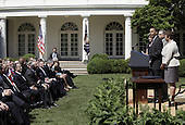 United States President Barack Obama delivers remarks before signing a Presidential Memorandum outlining the next steps in his vision for cleaner, more efficient vehicles in the Rose Garden of the White House in Washington, DC on Friday, May 21, 2010. .Credit: Yuri Gripas / Pool via CNP