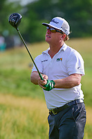 Charley Hoffman (USA) watches his tee shot on 12 during Thursday's round 1 of the 117th U.S. Open, at Erin Hills, Erin, Wisconsin. 6/15/2017.<br /> Picture: Golffile | Ken Murray<br /> <br /> <br /> All photo usage must carry mandatory copyright credit (&copy; Golffile | Ken Murray)