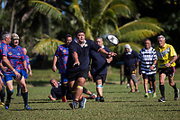 Action from the Cook Islands Golden Oldies Rugby Mini Festival 2019 at Avatiu Park in Rarotonga on Tuesday, 7 May 2019. Photo: Joe Johnson / lintottphoto.co.nz