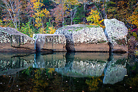 Fall at Longpool Recreation Area on the Big Piney River in the Ozark National Forrest in Arkansas.