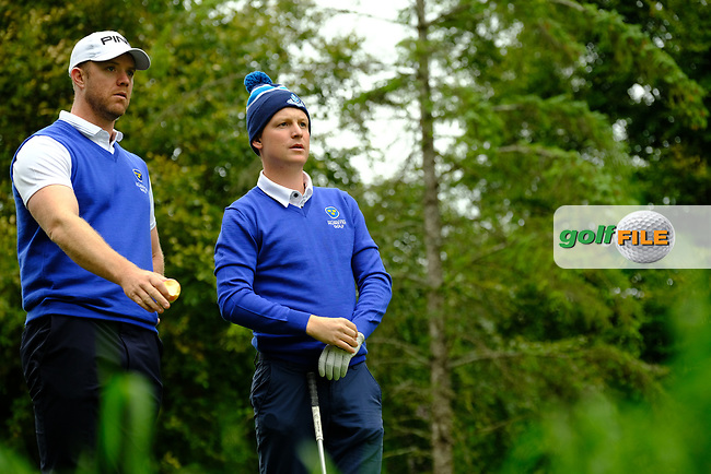 Peter O'Keeffe & Geoff Lenehan (Munster) during final day foursomes at the Interprovincial Championship 2018, Athenry golf club, Galway, Ireland. 31/08/2018.<br /> Picture Fran Caffrey / Golffile.ie<br /> <br /> All photo usage must carry mandatory copyright credit (© Golffile   Fran Caffrey)