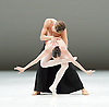 Dutch National Ballet <br /> Hans Van Manen - Master of Dance<br /> Grosse Fuge<br /> rehearsal / photocall<br /> 12th May 2011<br /> at Sadler's Wells. London, Great Britain <br /> <br /> Igone de Jongh<br /> Matthew Golding <br /> <br /> Photograph by Elliott Franks