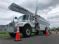 FPL Crews restoring power during Hurricane Dorian in Vero Beach, Fla. on September 4, 2019