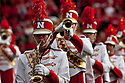 24 October 2009: Nebraska Marching Band takes the field for pre-game festivities against Iowa State at Memorial Stadium, Lincoln, Nebraska. Iowa State defeats Nebraska 9 to 7.