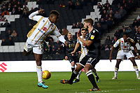 Kieran Agard of MK Dons tries to flick the ball into the net during MK Dons vs Macclesfield Town, Sky Bet EFL League 2 Football at stadium:mk on 17th November 2018