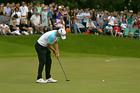 Alexander Noren eagles the 18th green to go 11 strokes under par and win Wentworth 2017 during the BMW PGA Golf Championship at Wentworth Golf Course, Wentworth Drive, Virginia Water, England on 28 May 2017. Photo by Steve McCarthy/PRiME Media Images.