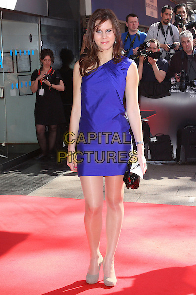 LAURA MOORE .Prince's Trust & L'Oreal Paris 'Celebrate Success Awards' at the Odeon, Leicester Square, London, England, UK,.23rd March 2011..full length blue one shoulder dress  beige shoes clutch bag .CAP/ROS.©Steve Ross/Capital Pictures