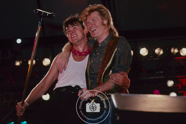 Daryl Hall  Paul Young performing live at Pier 84, NY NY -Aug 1985