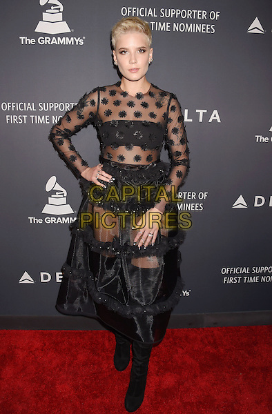 HOLLYWOOD, CA - FEBRUARY 09: Singer-songwriter Halsey attends Delta Air Lines official Grammy event featuring private performance and interactive evening with Halsey at Beauty &amp; Essex, adjacent to the new Dream Hollywood to celebrate the 59th Annual GRAMMY Awards on February 9, 2017 in Los Angeles, California.<br /> CAP/ROT/TM<br /> &copy;TM/ROT/Capital Pictures