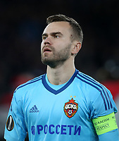 CSKA Moscow's Igor Akinfeev<br /> <br /> Photographer Rob Newell/CameraSport<br /> <br /> UEFA Europa League Quarter-Final First Leg - Arsenal v CSKA Moscow - Thursday 5th April 2018 - The Emirates - London<br />  <br /> World Copyright &copy; 2018 CameraSport. All rights reserved. 43 Linden Ave. Countesthorpe. Leicester. England. LE8 5PG - Tel: +44 (0) 116 277 4147 - admin@camerasport.com - www.camerasport.com