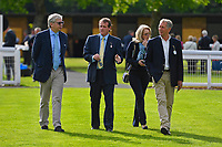 Trainer Richard Hannon with connections of Partridge during Evening Racing at Salisbury Racecourse on 25th May 2019